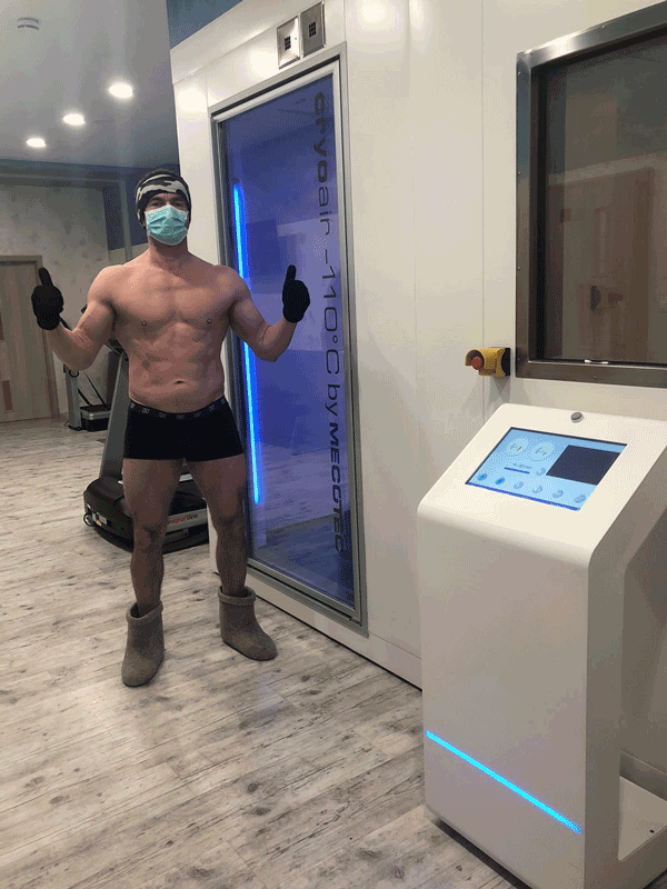 colin macgregor going into a cryo chamber