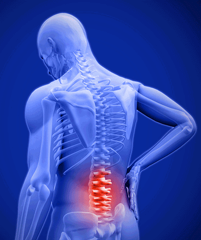 chronic low back pain course man holding lower back