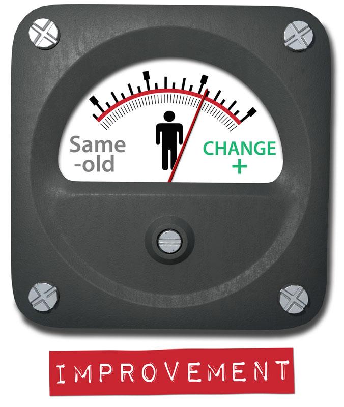 progressive overload scale showing improvement